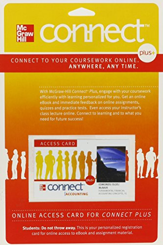 Price comparison product image Connect Plus Access Card for Fundamental Financial Accounting Concepts