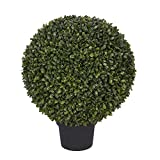 House of Silk Flowers Artificial Boxwood Ball Topiary (14-inch)