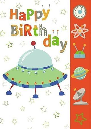 2 Für 1 Angebot Alles Gute Zum Geburtstag Ufo Grußkarte Von