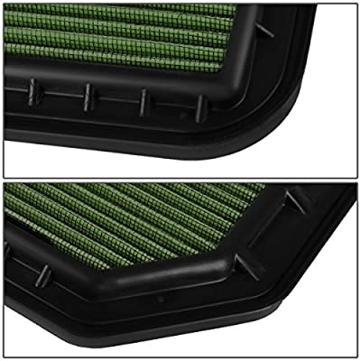 Replacement for Infiniti QX56 / QX80 Reusable & Washable Replacement High Flow Drop-in Air Filter (Green): Automotive
