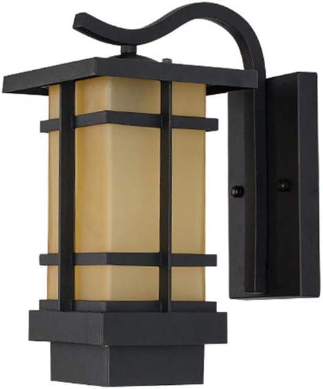 Lámpara de pared para exteriores, luz LED solar, resistente al agua, hierro forjado, pasillo, balcón, iluminación de celosía 5-9 W Estilo europeo Solar negro