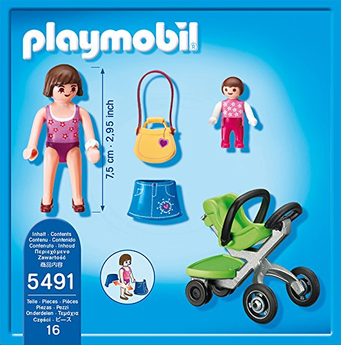 Playmobil Centro Comercial - Madre con cochecito (5491): Amazon.es: Juguetes y juegos