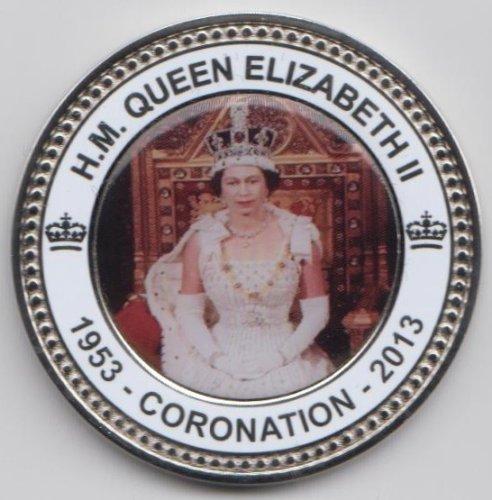 HM Queen Elizabeth II Coronation 1953 to 2013 Collectors Coin / Medal In Presentation Box / Case