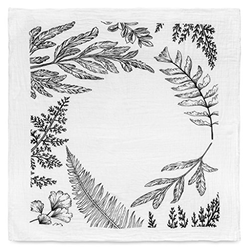 Wreath Baby Photo Backdrop 100% Cotton Organic Baby Swaddle (Fern (Chenille Infant Burp Cloth)