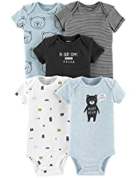 Baby Boys' 5 Pack Whale Tank Top Originals Bodysuits