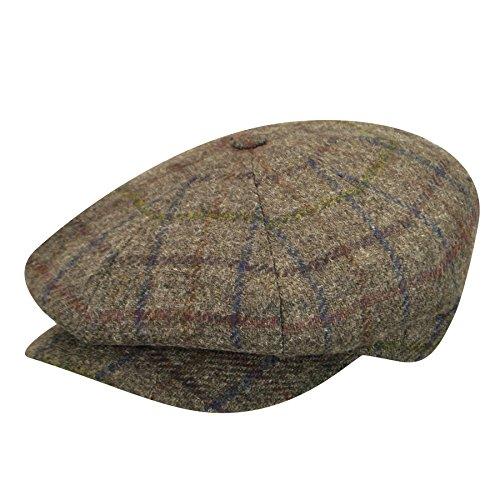 borsalino-male-bb150220018-wool-newsboy-cap-brown-plaid-m