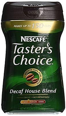 Nescafe Taster's Choice, 100% Pure Instant Coffee Decaffeinated, 10 oz by Nescafé