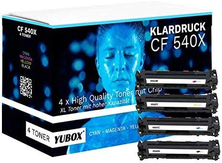Juego de 4 tóneres XL compatibles con HP 203X 203A HP CF540X ...