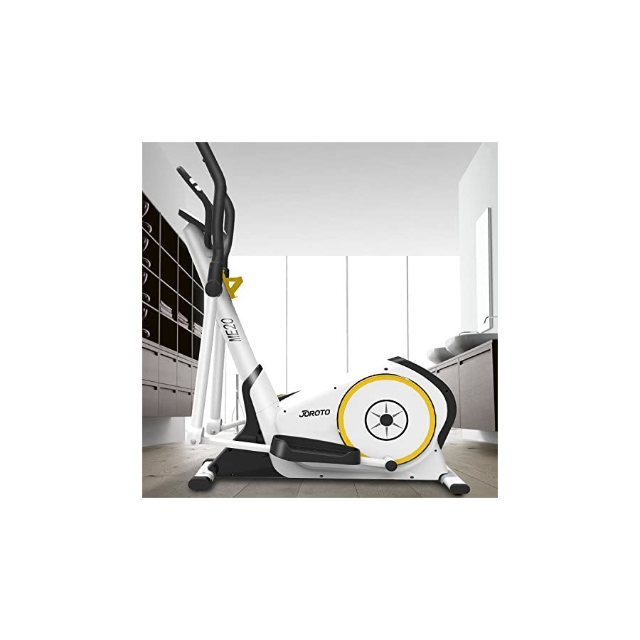 JOROTO Fit Elliptical Machine Trainer ME20 Exercise Bike Cardio Fitness Home Gym with Heart Rate Monitor