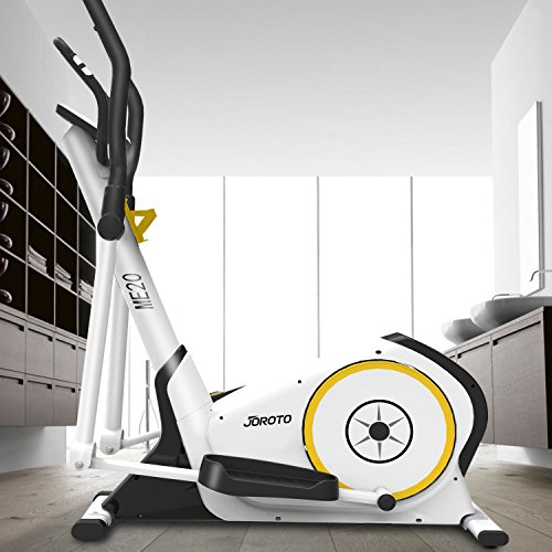 Fit Elliptical Machine Trainer JOROTO ME20 Exercise Bike Cardio Fitness Home Gym with Heart Rate Monitor