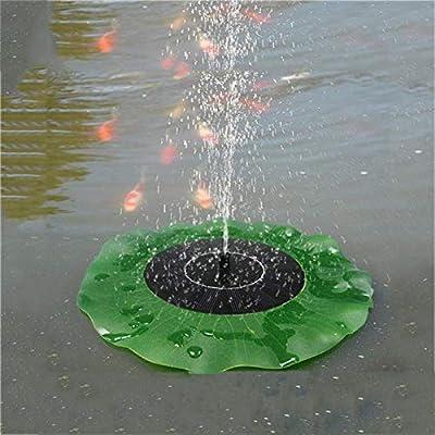 ReeeR Solar Fountain for The Pool Nozzles Lotus Leaf Plants Watering Kit Solar Panel Bird Bath Garden Decor Pond Pump Irrigation Tool