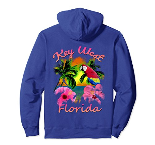 Unisex Key West Tropical Beach Sunset Pullover Hoodie Small Royal - West Clothing Womens Key