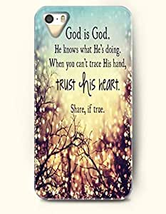 iPhone 4 4S Case OOFIT Phone Hard Case **NEW** Case with Design God Is God. He Knows What He'S Doing. When You Can'T Trace His Hand, Trust His Heart. Share If True.- Pious Monologue - Case for Apple iPhone 4/4s