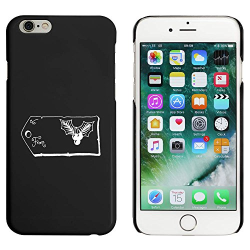 Noir 'Étiquette de Noel' étui / housse pour iPhone 6 & 6s (MC00022645)