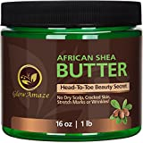 Best unknown Organic Skin Cares - GlowAmaze Pure African Shea Butter - Natural Review