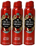 Old Spice, Refresh Body Spray, Bearglove - 3.75 oz (3 Pack)