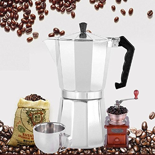 Aluminum 8-Angle Moka Pot Espresso Stove Top Coffee Maker
