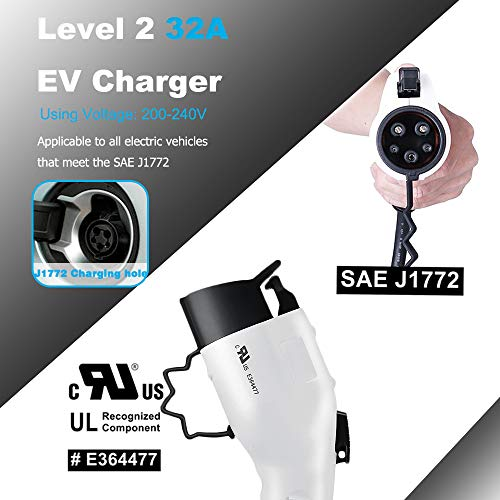 Zencar 32A EV Charger Level 2, NEMA14-50 16ft 220V-240V Portable EV Charging Station, Electric Vehicle Charger Compatible with Chevy Volt, Nissan Leaf, Fiat, Ford Fusion by Zencar (Image #3)