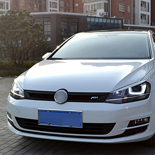 Carmonsons 2 Pcs/lot Headlights Eyebrow Eyelids ABS Chrome Trim Cover for Volkswagen VW Golf 7 MK7 GTI R Rline Car Styling (white)