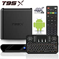 BPSMedia (2017 Upgraded Version) T95X 4K Amlogic S905 Set Top TV Box Android 5.1 Lollipop OS KODI XBMC Quad Core Google Streaming Media Player 2GB - 8GB with WiFi HDMI DLNA