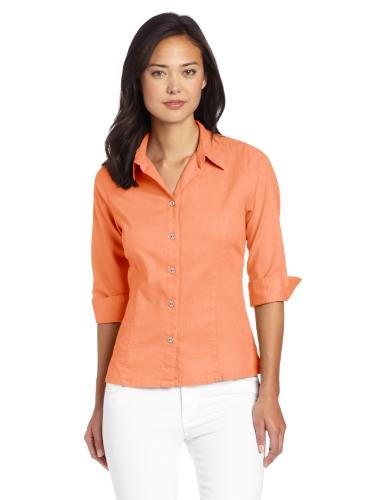 (Royal Robbins Women's Cool Mesh 3/4 Sleeve Shirt, Peach, X-Small)