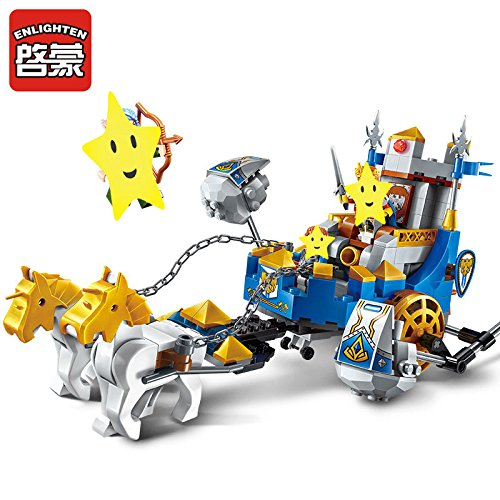 Enlighten Castle War of Glory Two horse Chariot 3 Figures 246pcs Educational Bricks Toy Boy Gift - Without Original Box