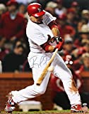 Autographed Furcal Photo - 16x20 2011 WORLD SERIES AT BAT HIT - Autographed MLB Photos