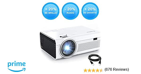 Crosstour Mini Proyector Portátil LED Soporte Full HD 1080P Vídeo ...