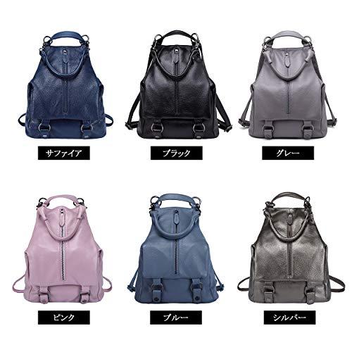Ladies Bag For Purse Boyatu Genuine Backpack Leather Elegant Blue Shoulder Daypacks Women HWxBYgc