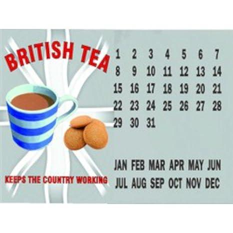 Británico té mantiene el país calendario de trabajo ...