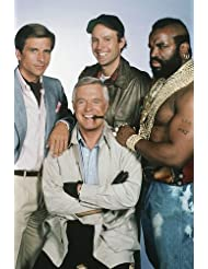 George Peppard, Dirk Benedict, Dwight Schultz and Mr. T in The A-Team 24x36 Poster