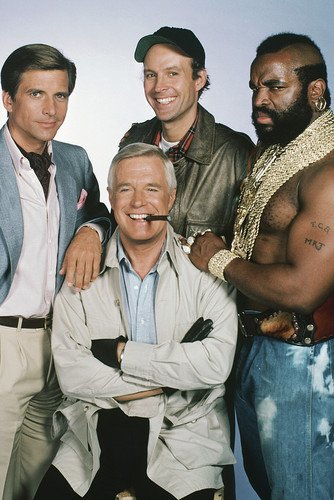 George Peppard, Dirk Benedict, Dwight Schultz and Mr. T in The A-Team 24x36 Poster (Team Poster)