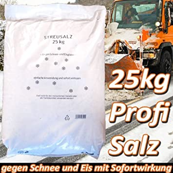 25kg Profi Streusalz Auftausalz Salz Tausalz Eis Schnee Amazon De