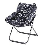 Black Star Folding Chair / Fabric Lounge Chair Sofa Chair / Single Folding Chair / Simple Computer Chair / Bedroom Folding Chair / Living Room Lounge Chair /Black fabric lounge chair