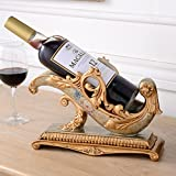 Tabletop wine racks Creative classical resin wine rack wine cabinet decorations furnishings noble wine bottle holder elegant wine stand bottle server display rack-A