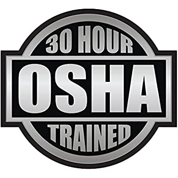 ... sticker BTKAIE Stunning Osha Hard Hat Stickers 30 Hour OSHA