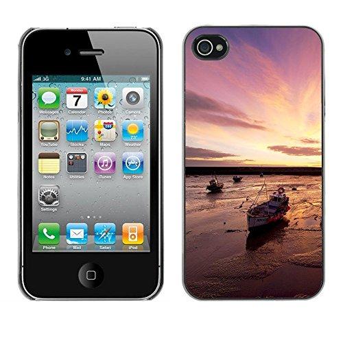 Hülle Case Schutzhülle Cover Premium Case // F00001384 Sonnenuntergang // Apple iPhone 4 4S 4G