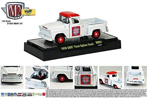 (1958 GMC Fleet Option Truck (Red & White) MoonPie Series M2 Machines Auto-Thentics 2013 Castline Premium Edition 1:64 Scale Die-Cast Vehicle (MN01 13-07) )