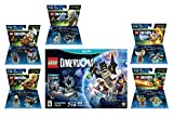 Lego Dimensions Starter Pack + The Lord Of The Rings Legolas Gimli Gollum + Legend Of Chima Eris & Cragger Fun Packs for Nintendo Wii U Console