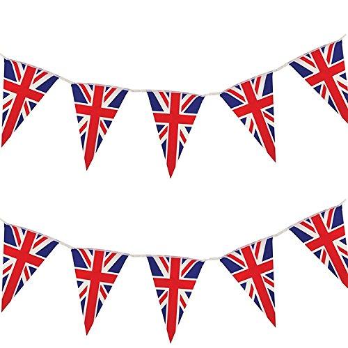 British Flag Triangle String Bunting Banner Garland Outdoor Garden -
