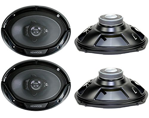 "4) New Kenwood KFC-6965S 6x9"" 800 Watt 3-Way Car Audio Coaxial Speakers Stereo"