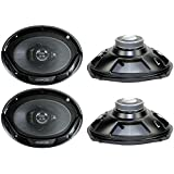 4) New Kenwood KFC-6965S 6x9 800 Watt 3-Way Car Audio Coaxial Speakers Stereo