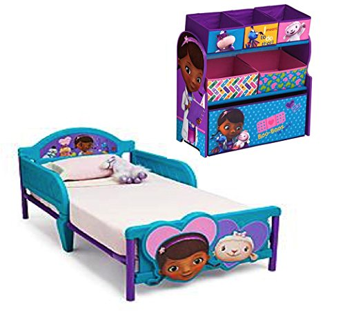 Doc Mcstuffins Toy Organizer and Toddler Bed.