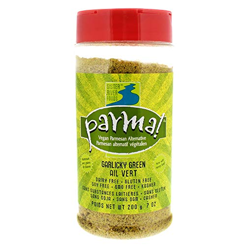 Parma! Vegan Parmesan - Garlicky Green, Dairy-Free, Soy-Free and Gluten-Free Vegan Cheese, Plant-Based Superfood, Kosher (7 ounces) (Best Non Dairy Cheese)