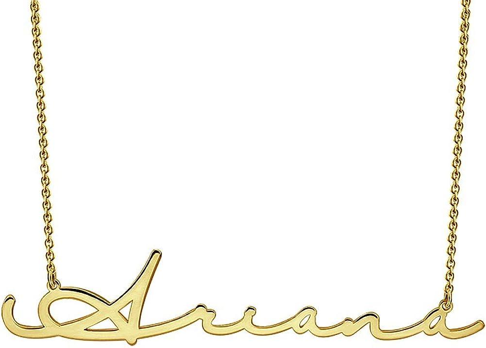 SOUFEEL Collar Plata Colgante con Nombre Estilo Árabe Personalizados Regalo para Novia Familia Aniversario o Cumpleaño Cadena Más Extención