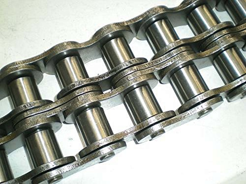 Ametric® #25-2 10 Foot Box, Stainless Steel, Rivet Type, Double Strand Roller Chain, 0.25 Inch Pitch (P), 0.125 Inch Between Plates (b1), 0.13 Inch Roller Dia (d1), 0.517 Inch Chain Width (I), 04C-2 SS ISO Number, (1-105) ()