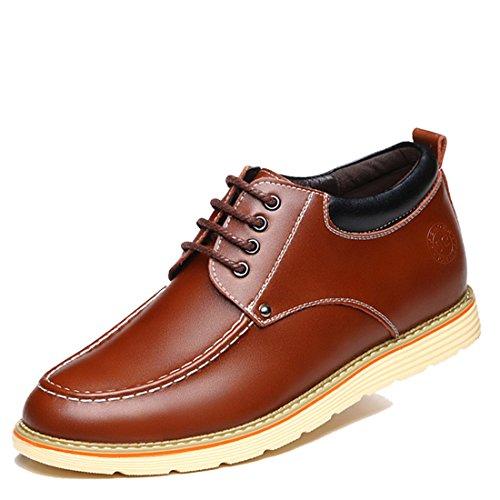 Mens Tillfälligt Arbete Spets-up Klassiska Flerfärgade Läder Vintage Oxford Skor 7299 Svart