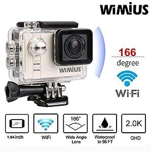 WIMIUS Action Camera 16MP Sports Cam SONY Sensor 1080p 60fps