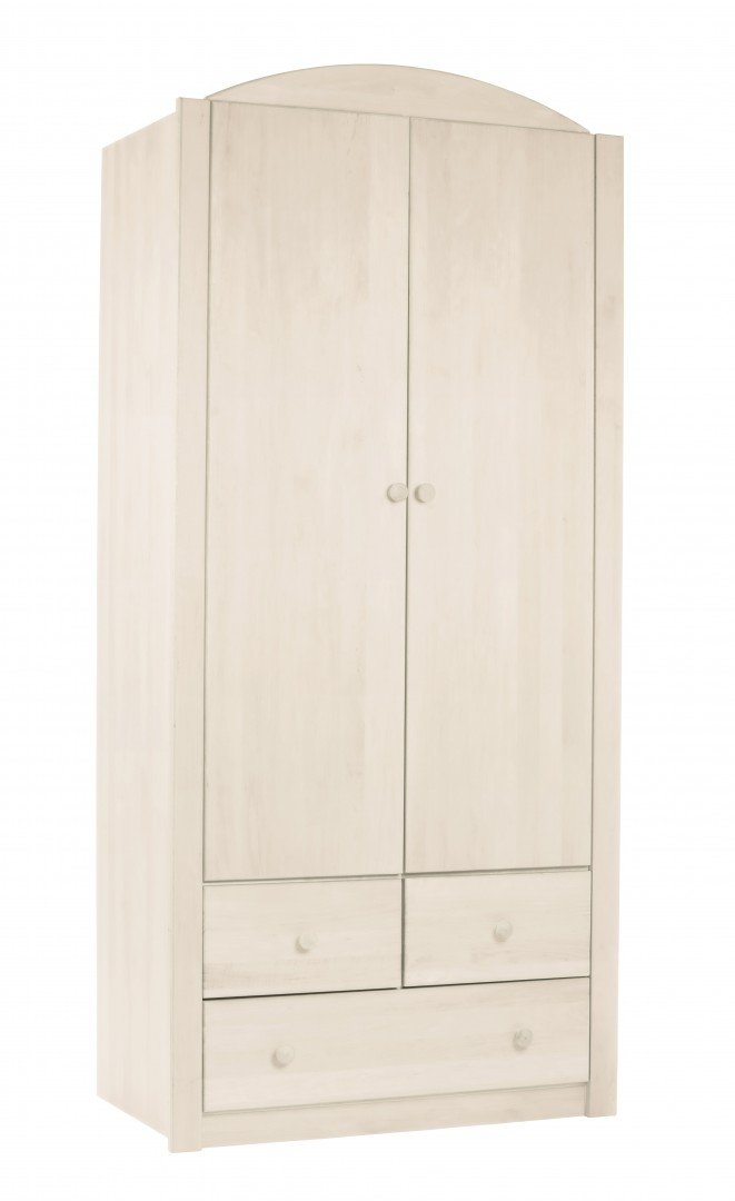 BioKinder 23806 Noah Schrank Kinder-Kleiderschrank aus Massivholz Kiefer 197 x 90 x 57 cm