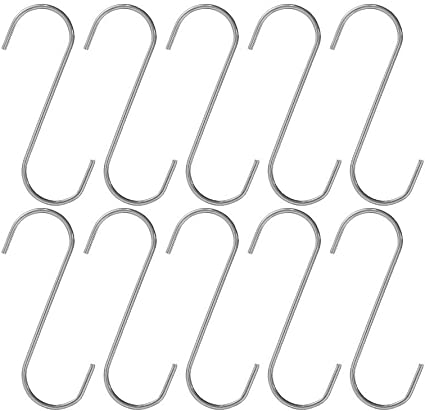 """Great for Hanging Plants West Coast Paracord S-Hooks 1/¾/"""" Heavy-Duty 10pk"""